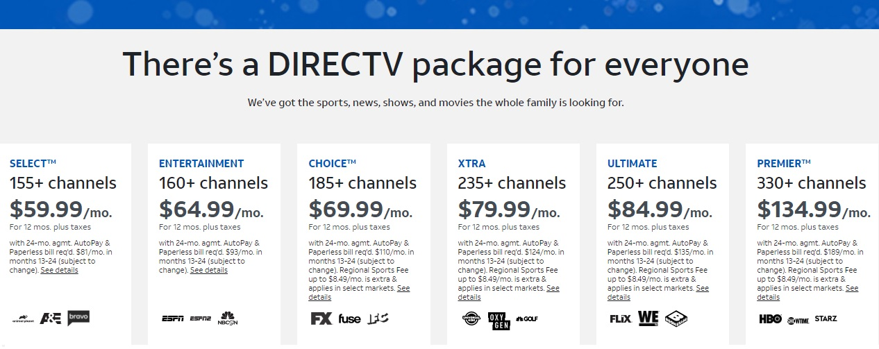 directv package